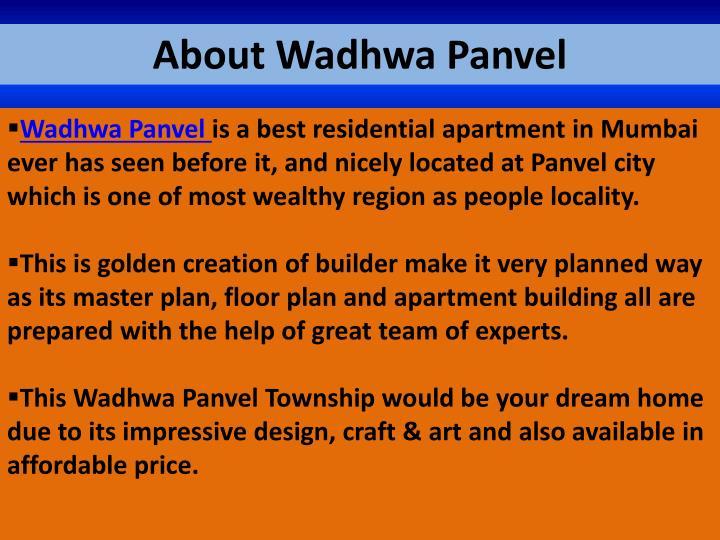 About Wadhwa