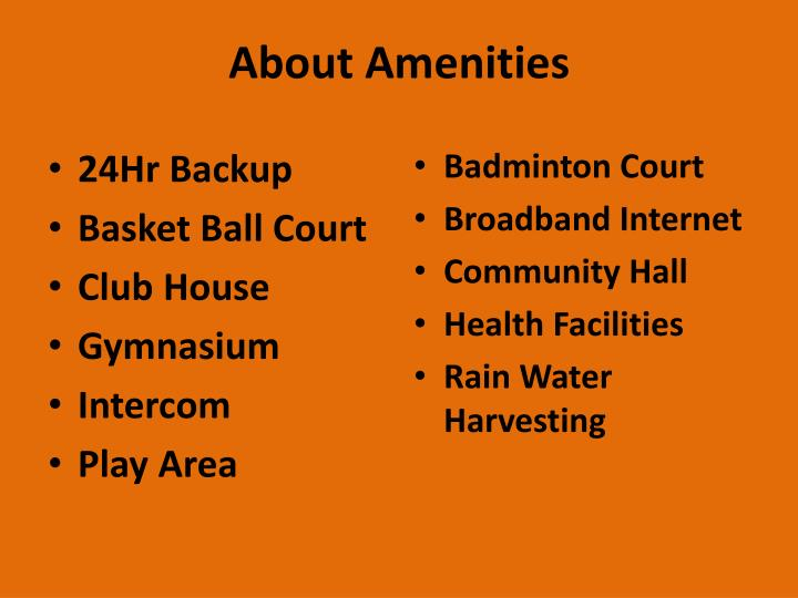 About amenities