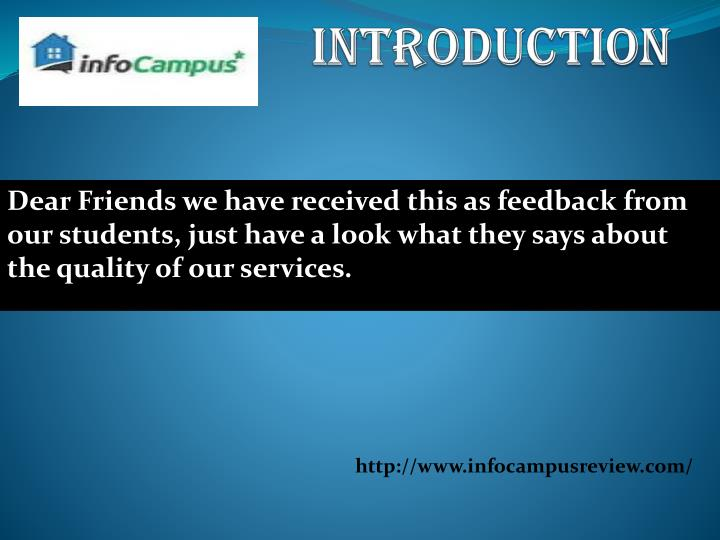 Dear Friends we have received this as feedback from