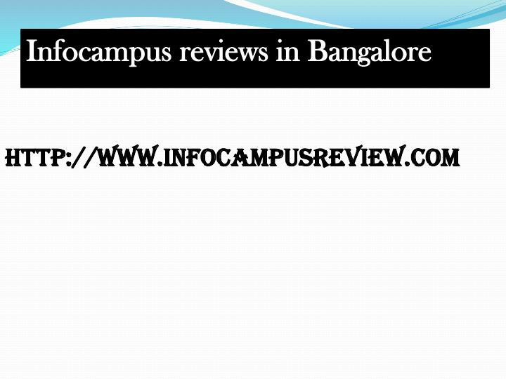 Infocampus reviews in Bangalore