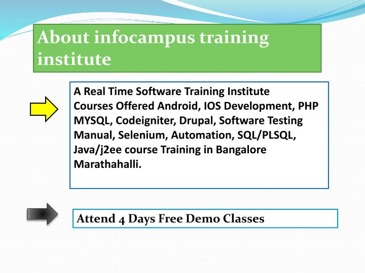 About infocampus training
