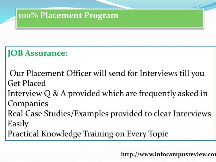 100% Placement Program