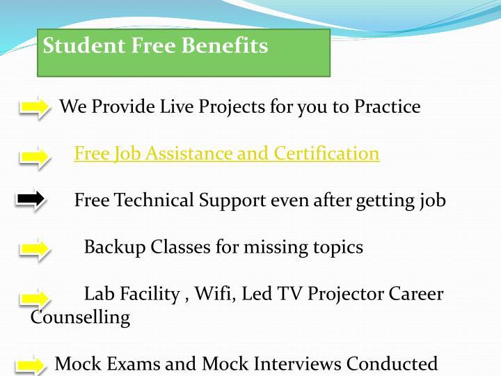 Student Free Benefits