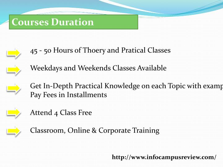 Courses Duration