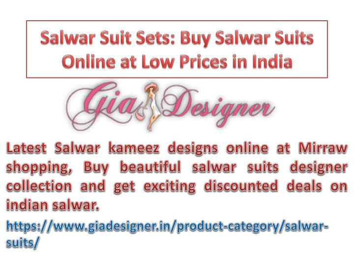 Salwar suit sets buy salwar suits online at low prices in india