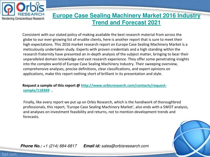 Europe case sealing machinery market 2016 industry trend and forecast 20211