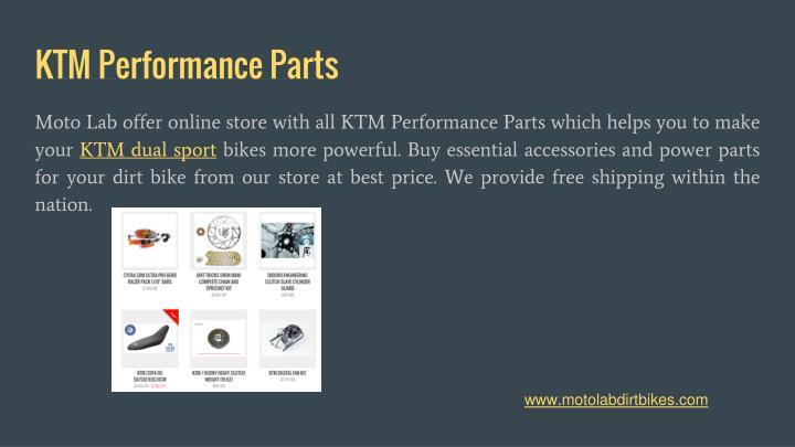 KTM Performance Parts