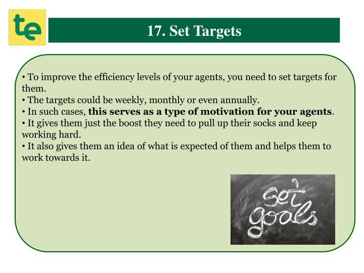 17. Set Targets