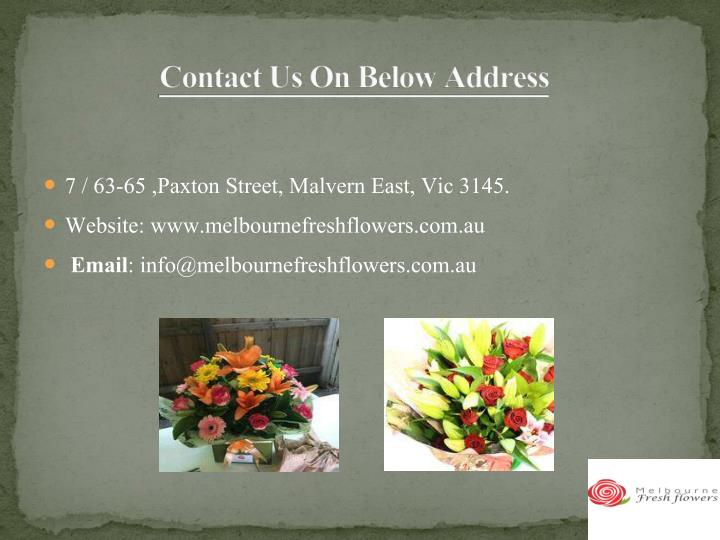 Contact Us On Below Address