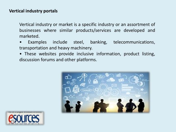 Vertical industry portals