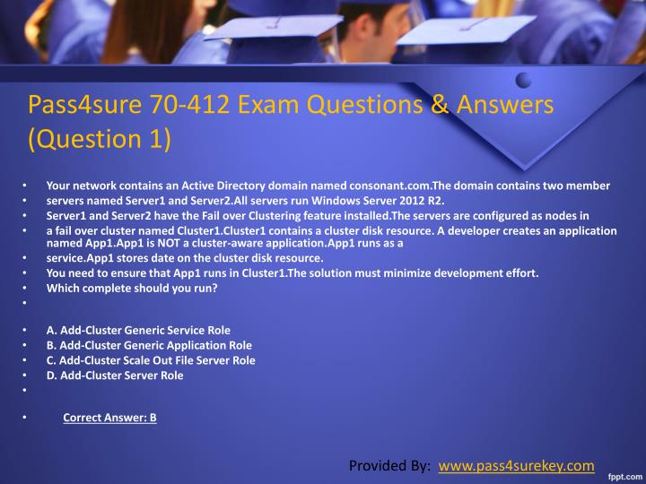 Pass4sure 70-412 Exam Questions & Answers        (