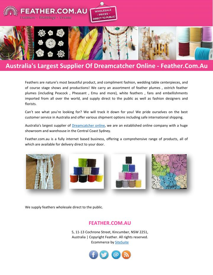 Australia's Largest Supplier Of Dreamcatcher Online - Feather.Com.Au