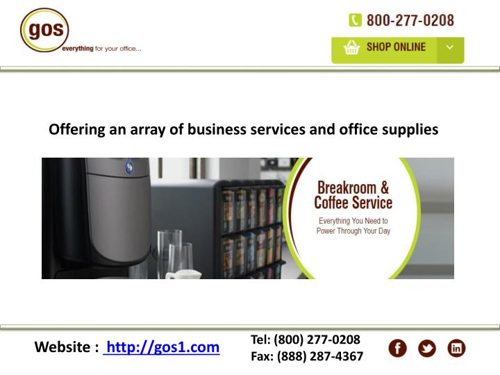 Offering an array of business services and office supplies