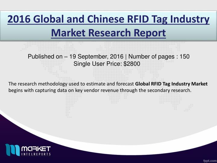 2016 Global and Chinese RFID Tag Industry Market Research Report