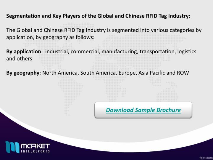 Segmentation and Key Players of the Global and Chinese RFID Tag Industry: