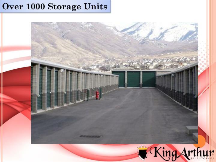 Over 1000 Storage Units