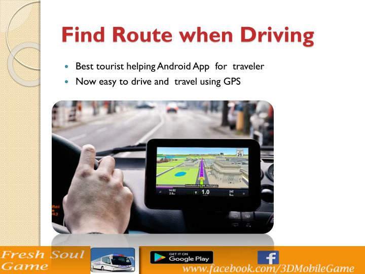 Find Route when Driving
