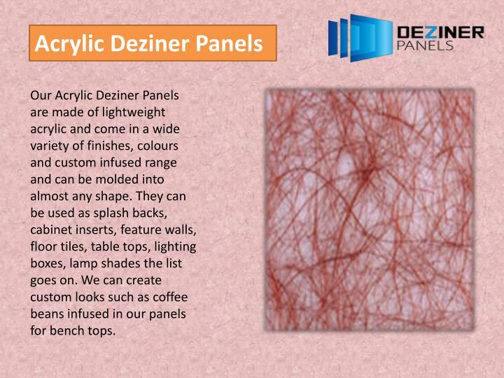Acrylic Deziner Panels