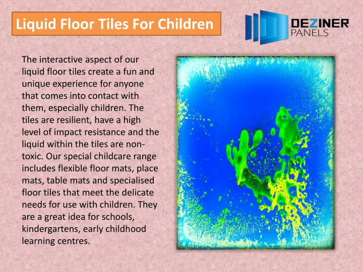 Liquid Floor Tiles For Children