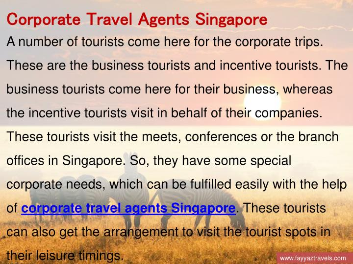 Corporate Travel Agents Singapore