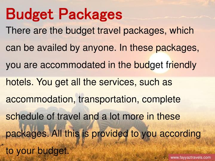 Budget Packages