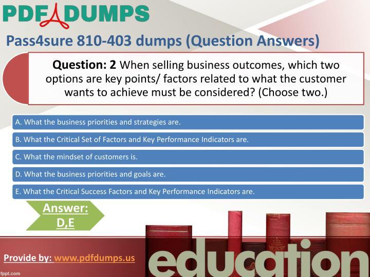 Pass4sure 810-403 dumps (Question Answers)