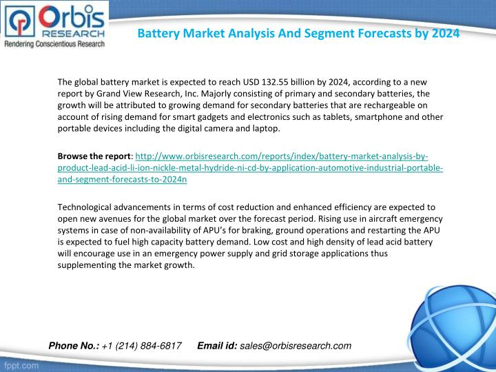 Battery market analysis and segment forecasts by 20241