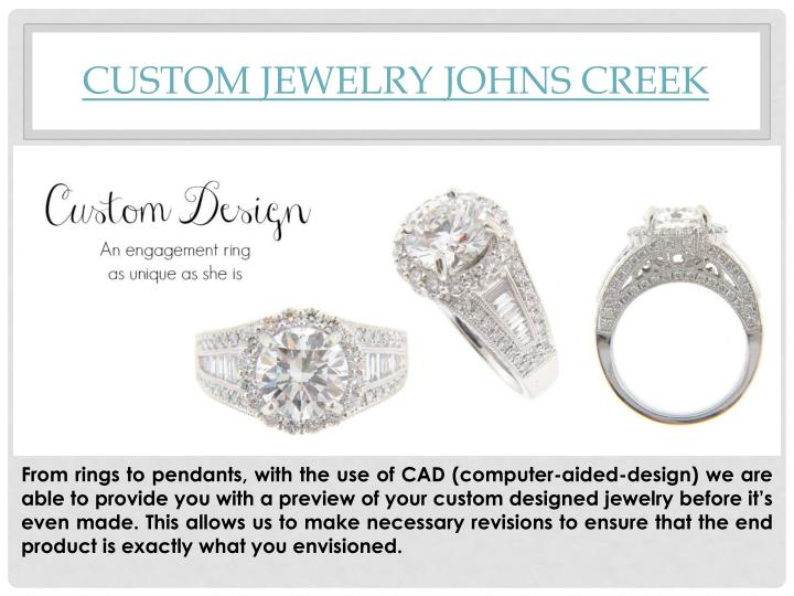 Custom Jewelry Johns Creek