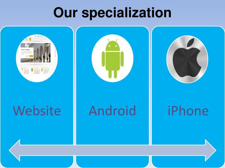 Our specialization