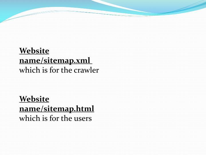 Website name/sitemap.xml