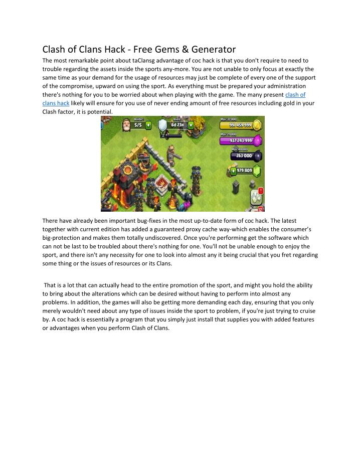 Clash of Clans Hack - Free Gems & Generator
