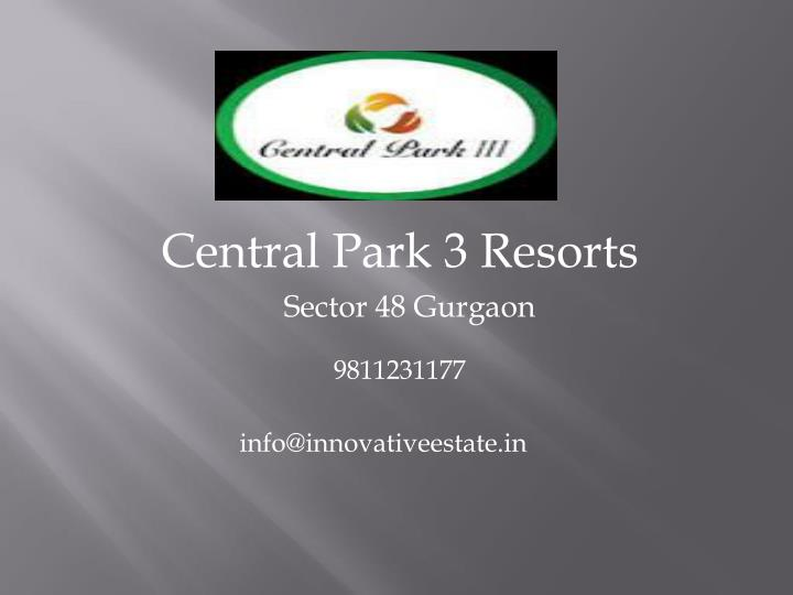 Central Park 3 Resorts