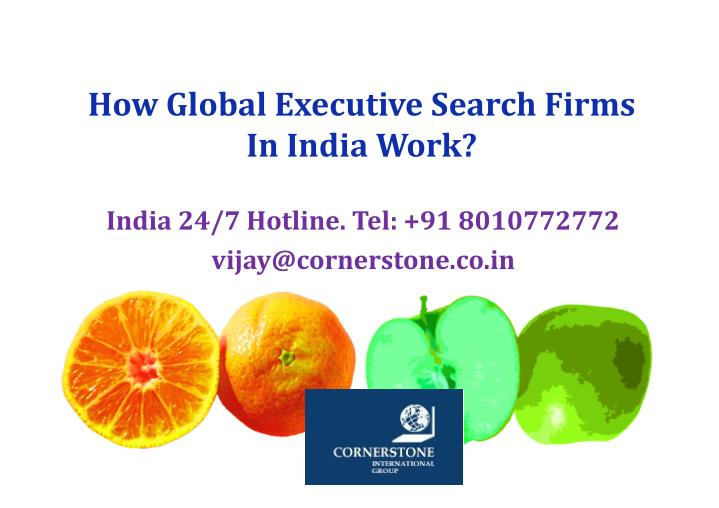 How Global Executive Search Firms