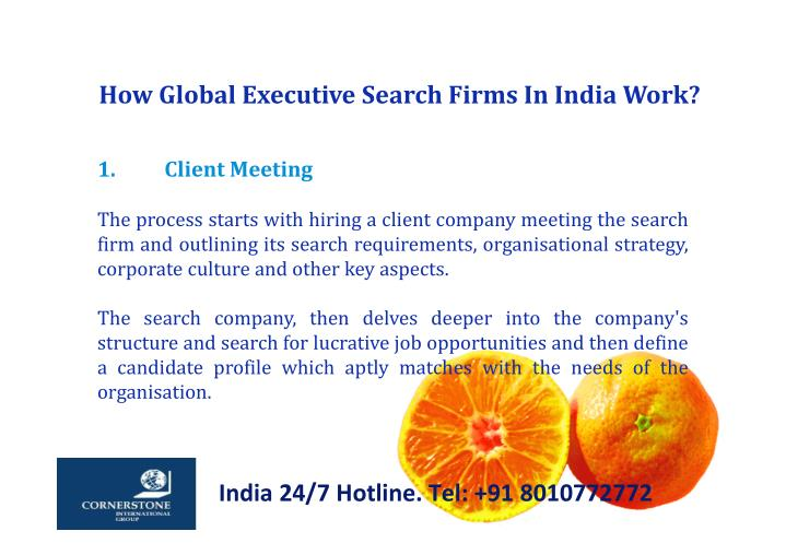 How Global Executive Search Firms In India Work?