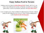 enjoy indian food in toronto