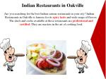 indian restaurants in oakville