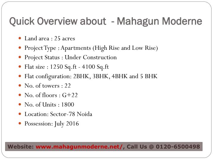 Quick overview about mahagun moderne