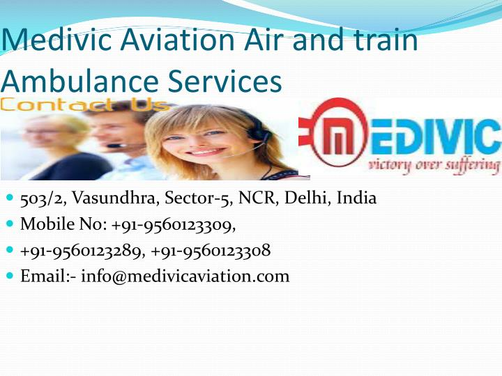 Medivic Aviation Air and train Ambulance Services