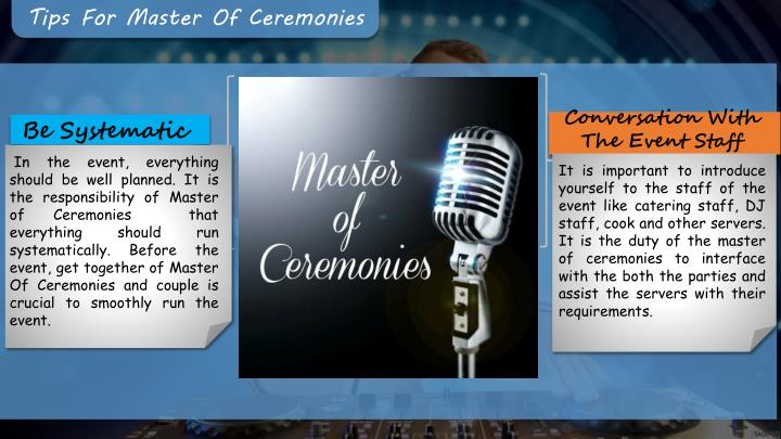 Tips For Master Of Ceremonies