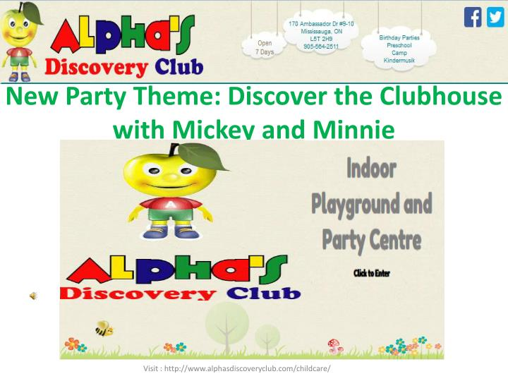 New party theme discover the clubhouse with mickey and minnie
