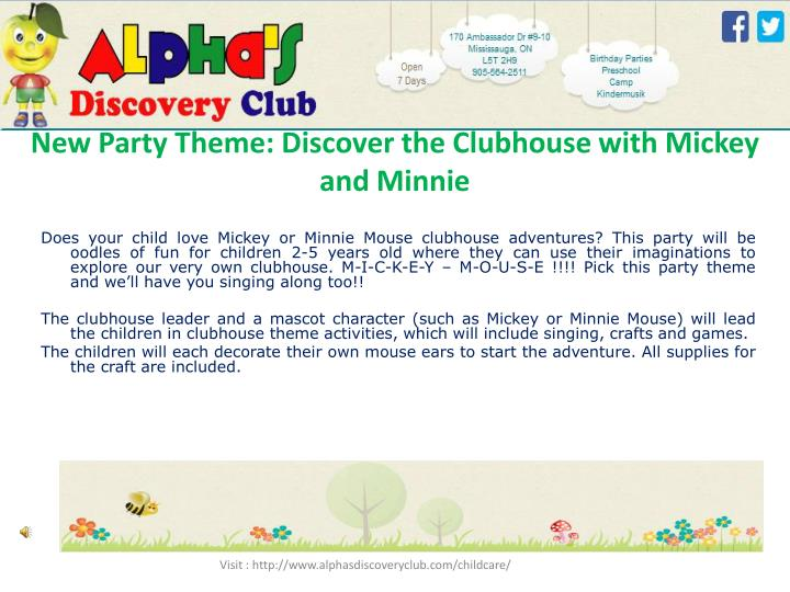 New Party Theme: Discover the Clubhouse with Mickey and Minnie