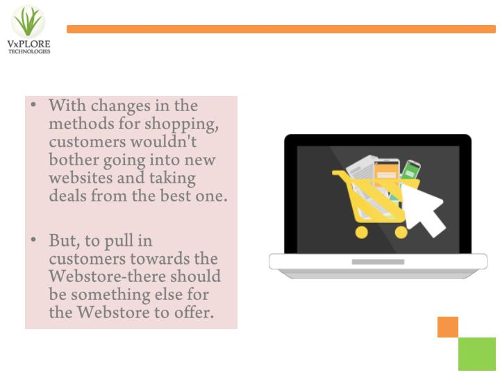 With changes in the methods for shopping, customers wouldn't bother going into new websites and taking deals from the best one.