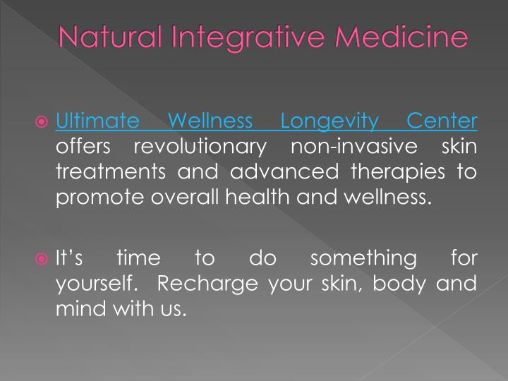 Natural integrative medicine