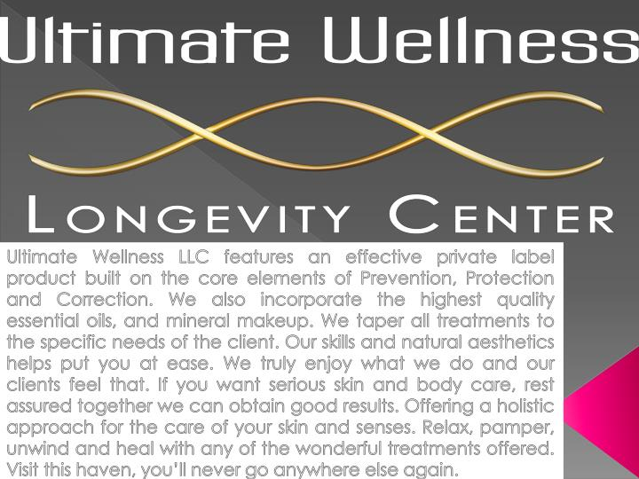 Ultimate Wellness LLC features an effective private label product built on the core elements of Prev...