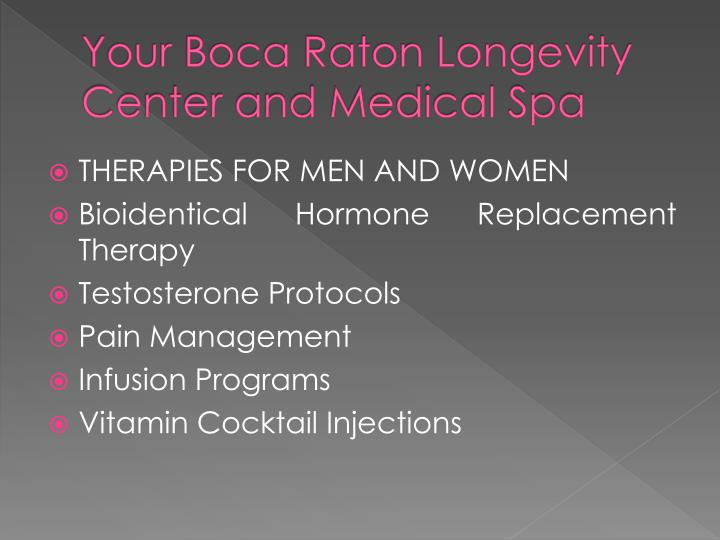 Your boca raton longevity center and medical spa
