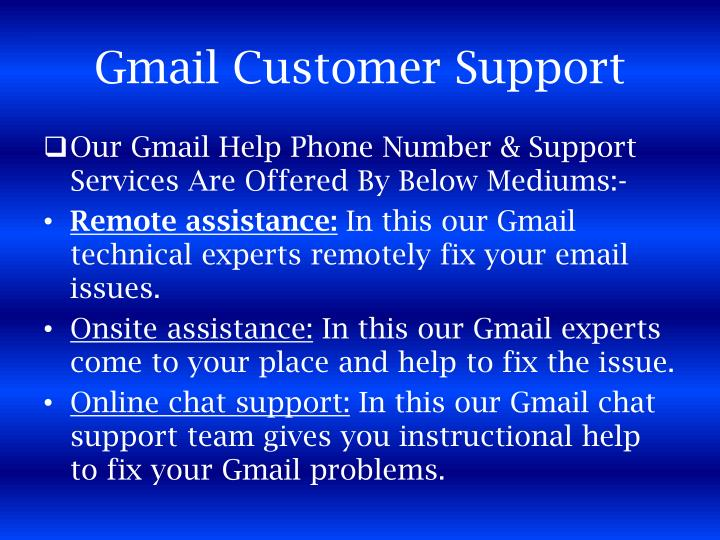 Gmail Customer Support