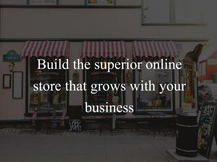 Build the superior online store that grows with your business