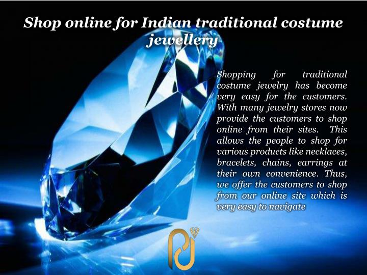 Shop online for Indian traditional costume jewellery