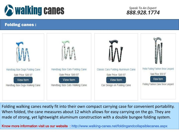 Folding canes :