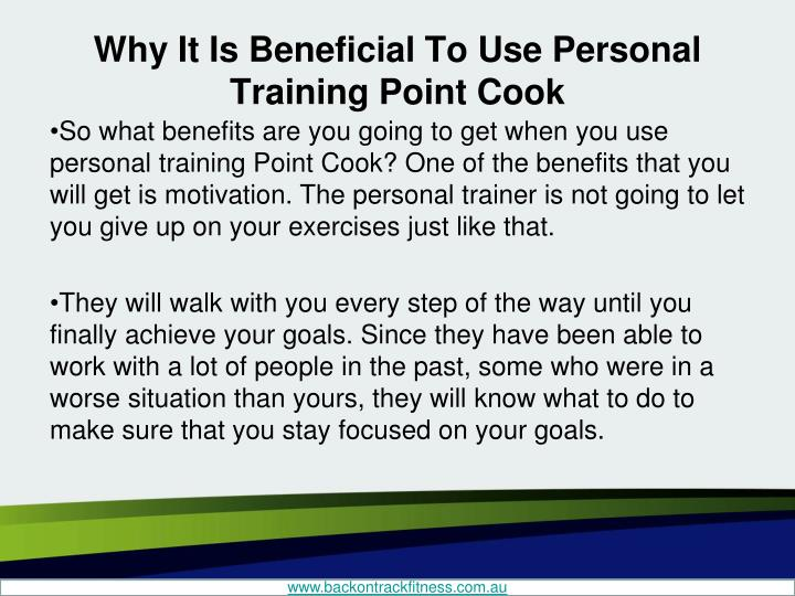 Why it is beneficial to use personal training point cook2